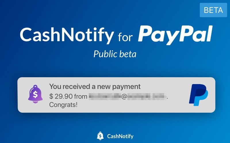 CashNotify for PayPal