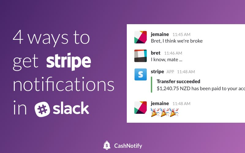 How to get Stripe notifications in Slack