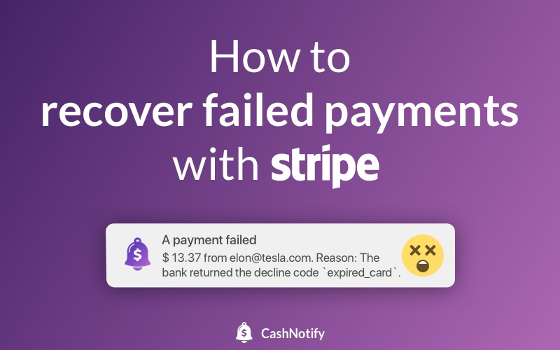 How to recover failed payments with Stripe