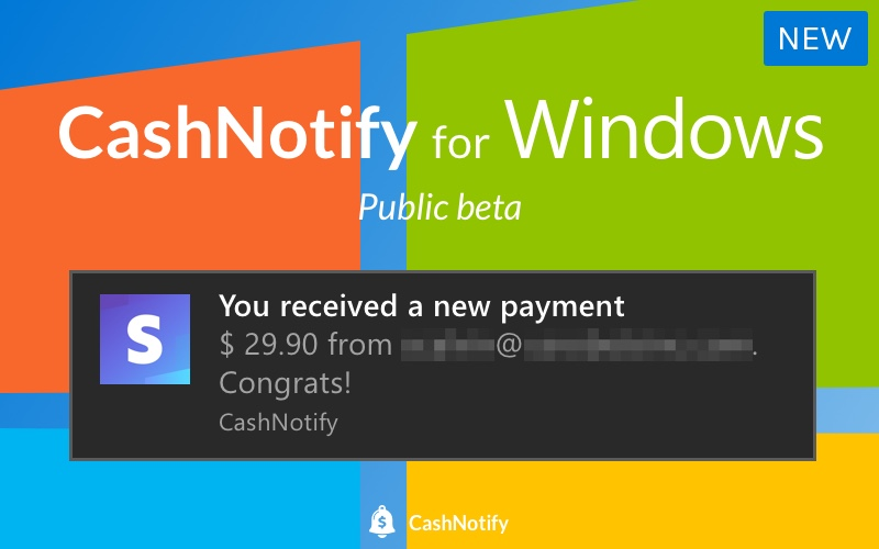 CashNotify for Windows
